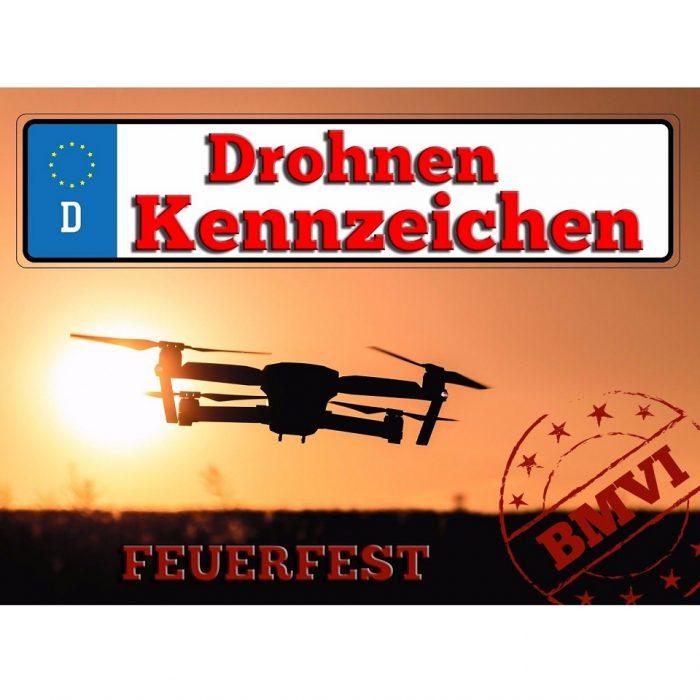 Drohnenkennzeichen Drohnen Plakette